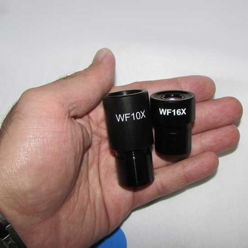 عدسی های چشمی 10x و 16x میکروسکوپ بیولوژی 1600 برابر مدل xsz-801bn