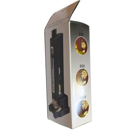 کارتن میکروسکوپ جیبی زومیک چراغدار 60-80-100 برابر
