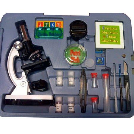 کیف میکروسکوپ دانش آموزی 900 برابر(پک میکروسکوپ بیولوژی تک چشمی دارای ست تشریح)