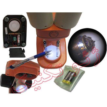 نماهای مختلف استریو میکروسکوپ 50 برابر - لوپ 50 برابر دوچشمی