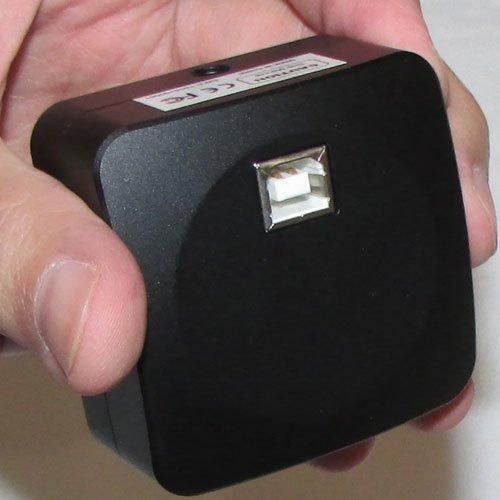 نمای پورت یو اس بی دوربین 10 مگاپیکسلی مخصوص انواع میکروسکوپ و استریومیکروسکوپ Industrial Digital Camera