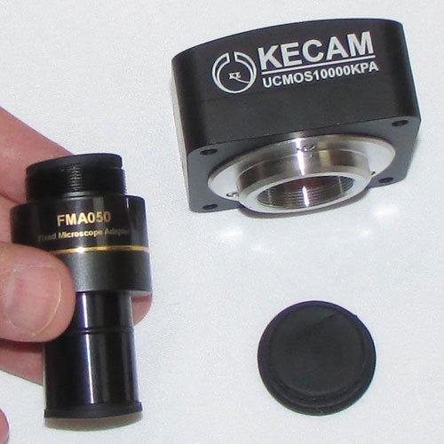 اتصال آداپتور FMA050 به بدنه دوربین 10 مگاپیکسلی مخصوص انواع میکروسکوپ و استریومیکروسکوپ Industrial Digital Camera