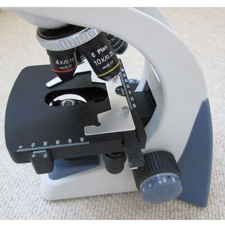 نمای لنزهای شفاف میکروسکوپ سه چشمی بیولوژی 1600 برابر مدل KE-M2015T-Plan