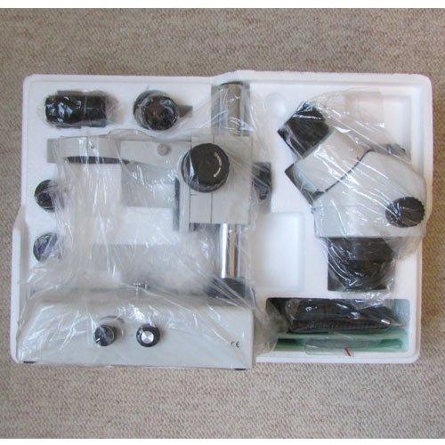 نمای بسته بندی پایه استریو میکروسکوپ زومیک سه چشمی 14 تا 90 برابر مدل KE-20