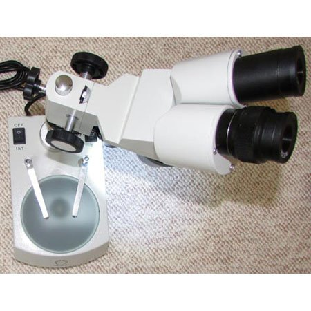 نمایی دیگر از استریو میکروسکوپ 80 برابر - لوپ 80 برابر دوچشمی مدل KE-56B