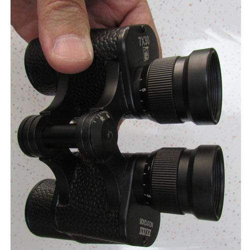 نمای لنزهای چشمی دوربین شکاری زایس جیبی مدل Zeiss Binoculars 7X30
