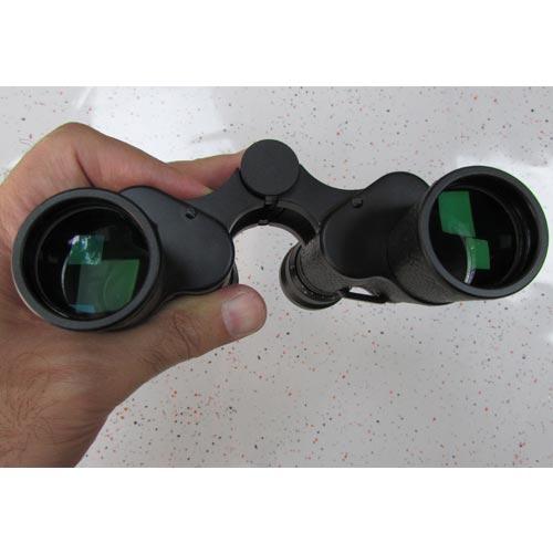نمای لنزهای شیئی دوربین شکاری زایس جیبی مدل Zeiss Binoculars 7X30