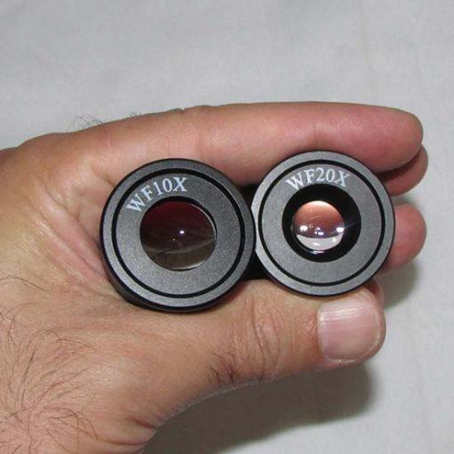 مشاهده قطر عدسی های چشمی 10x و 20X لوپ دو چشمی 80 برابر مدل Ke-s6b