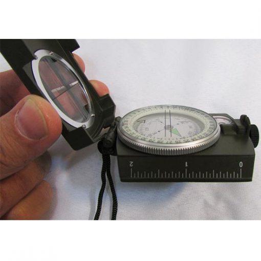 نمای بغل قطبنمای سانتو چینی دارای درجه بندی اینچ