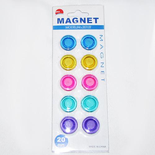 آهن ربای دکمه ای با قطر 2 سانتیمتر و 5 رنگ سِت ده تایی مدل 2010T