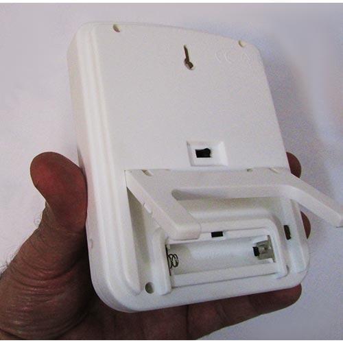 محفظه باتری دماسنج رطوبت سنج دیجیتالی رومیزی دیواری دو خانه مدل HTC-4