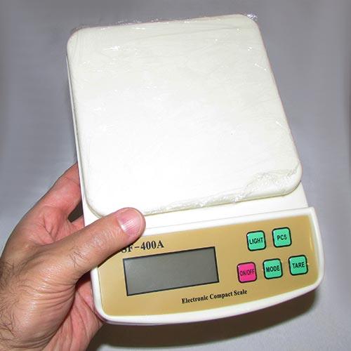 مشاهده ابعاد ترازوی دیجیتال electronic compact scale با قرار گیری در دست