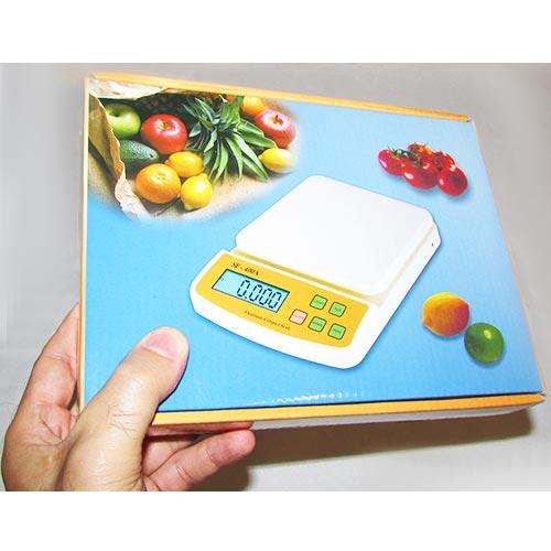 بسته بندی ترازوی دیجیتال electronic compact scale sf400a