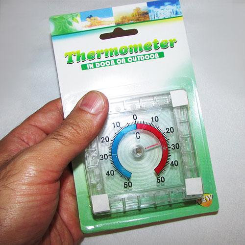 مشاهده ابعاد دماسنج یخچال عقربه ای با رنج -50 تا +50 درجه سانتیگراد
