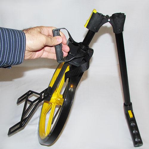 نمای نیمه باز شده دسته متر چرخدار مکانیکی مارک Lufkin چینی مرغوب