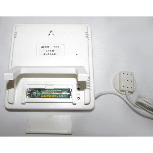 نمای پشت دماسنج و رطوبت سنج دیجیتال سنسور دار سه خانه مدل HTC2