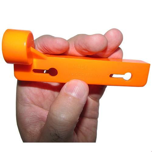نمای بغل تراز نبشی کائوچویی آلمانی نارنجی رنگ