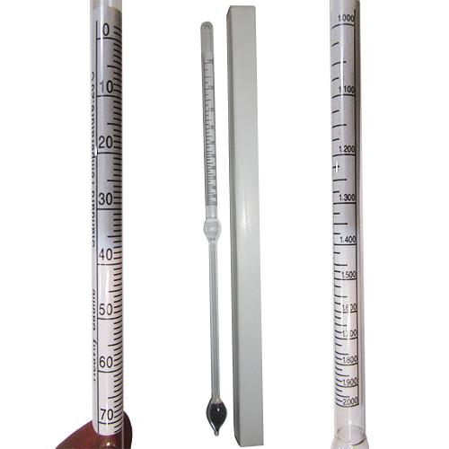 مشاهده بسته بندی و دو نوع درجه بندی درج شده بروی چگالی سنج دو کاره مایعات