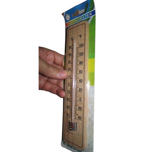 مشاهده ضخامت دماسنج چوبی دیواری 22 سانتیمتری