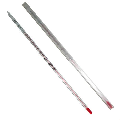 نمای غلاف و خود دماسنج شیشه ای میله ای -50 تا +50 درجه سانتیگراد