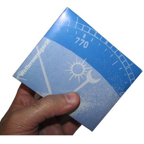 ابعاد بسته بندی رطوبت سنج عقربه ای تفا آلمانی