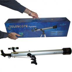 نمایی دیگر از بسته بندی و ابعاد تلسکوپ 60900 شکستی / گالیله ای دریسکو