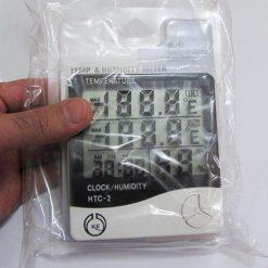 بسته بندی دماسنج رطوبت سنج دیجیتالی سنسور دار سه خانه مدل HTC2