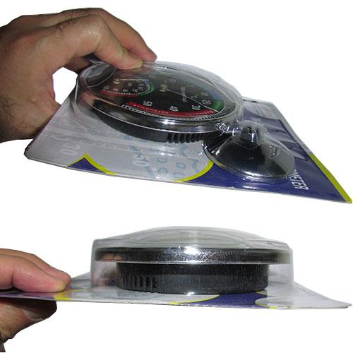 نمای بغل دماسنج رطوبت سنج عقربه ای دوکاره رومیزی/دیواری مدل Senior